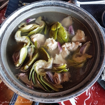 Canh Atiso nấu sườn