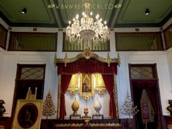 Mô phỏng phòng khách trong cung điện của vua Rama V